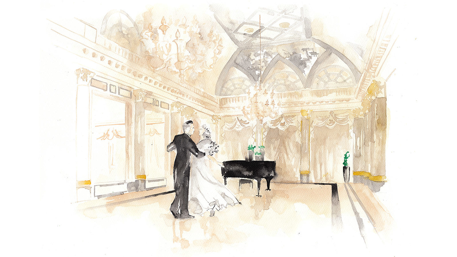 The St. Regis Rome Ballroom Illustration