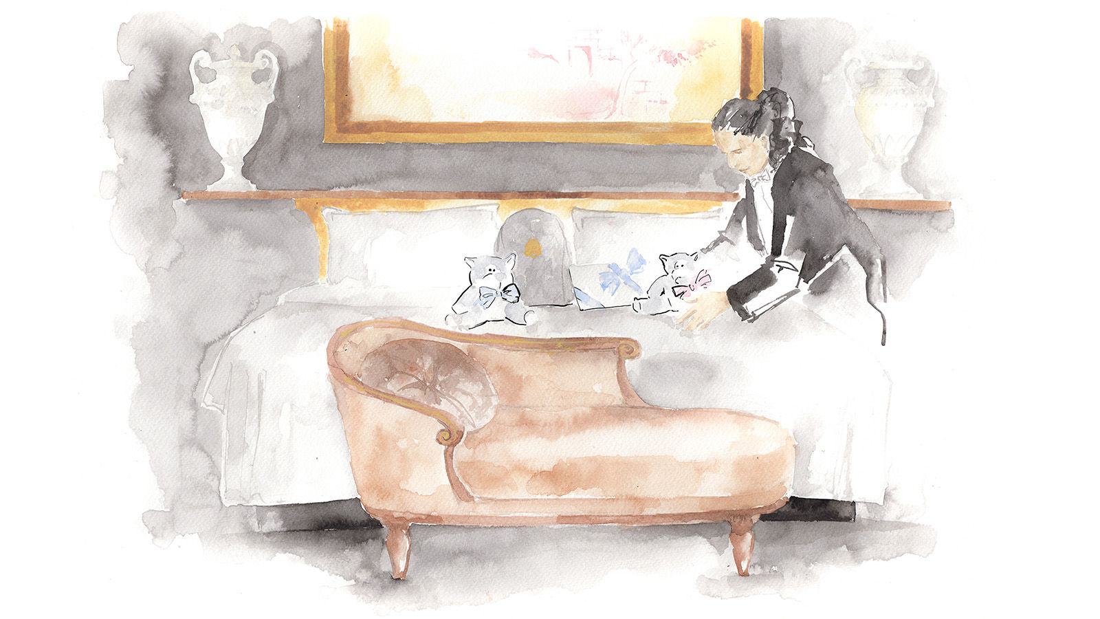 Traditions Familiales au St. Regis illustration Maya Beus
