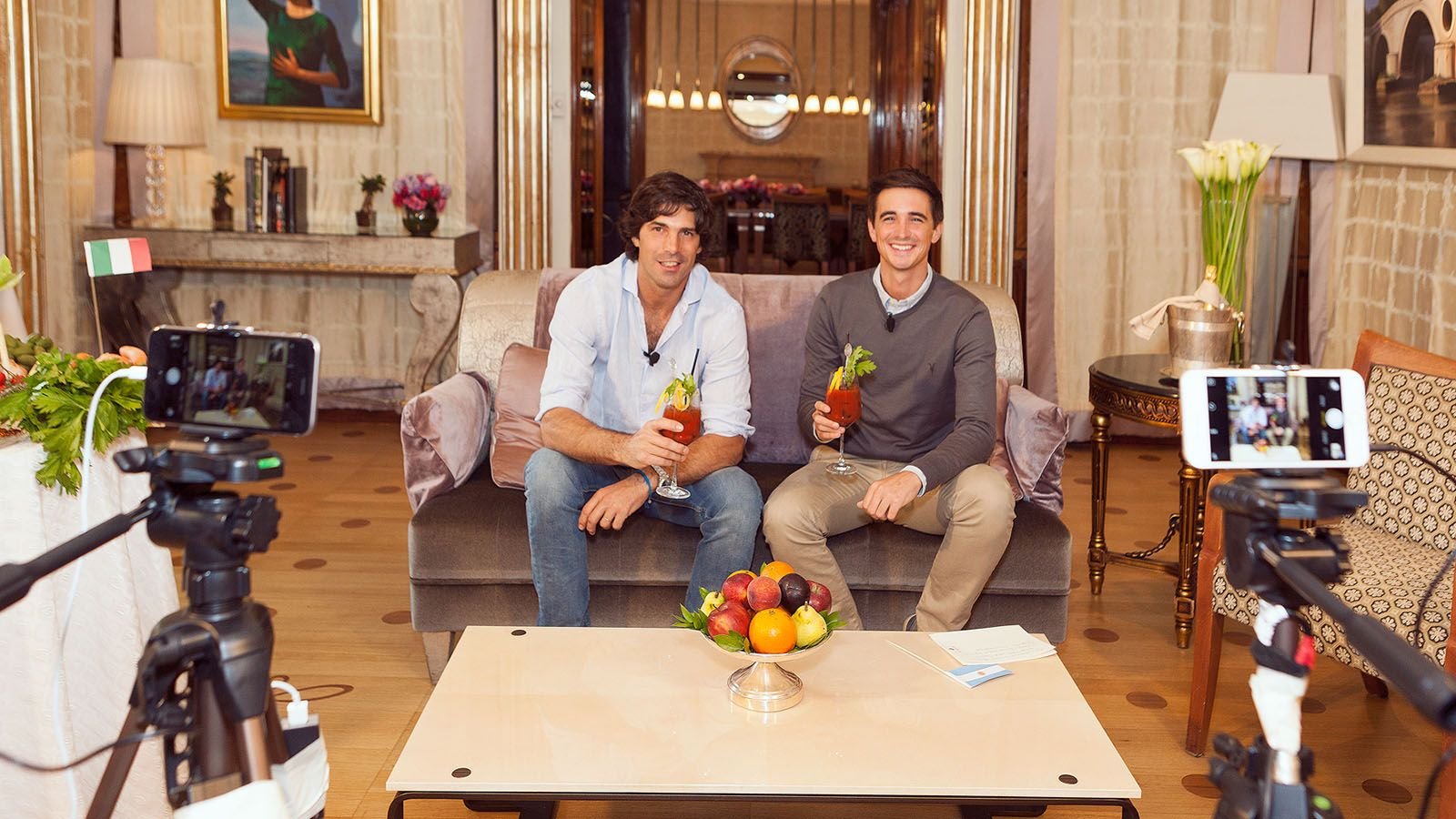 Nacho Figueras and Donal Skehan
