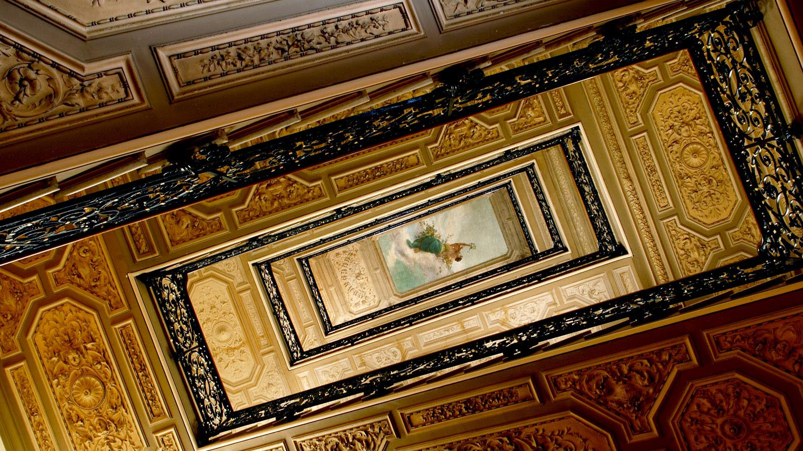 The St. Regis staircase fresco